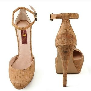 7 For All Mankind Natural Cork Minty Pump
